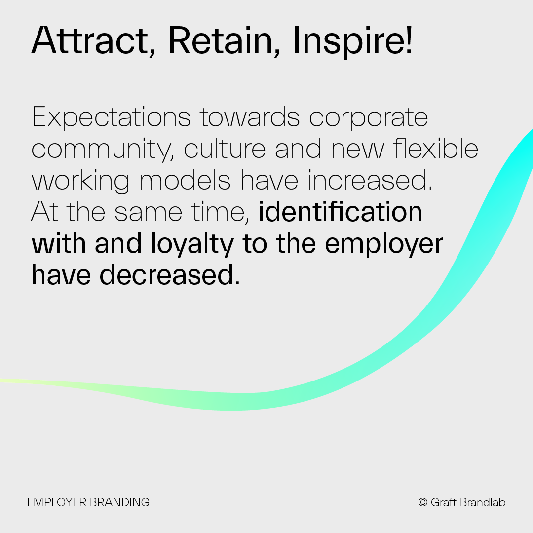 Text: Attract, retain, inspire