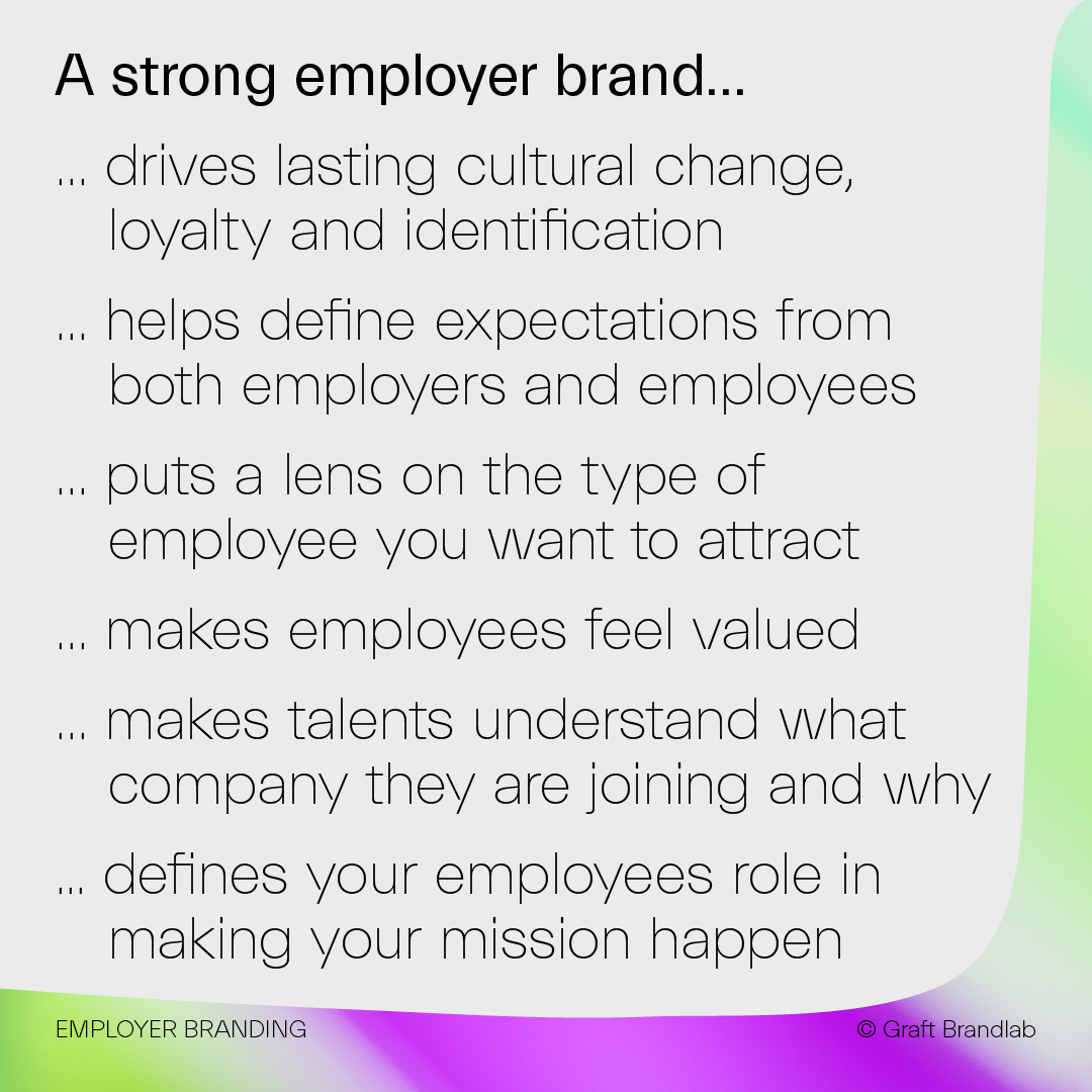 List of what defines a strong employer brand