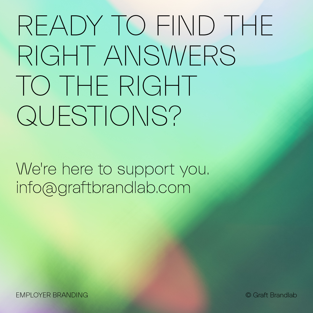 Text: Ready to find the right answers? Contact Graft Brandlab