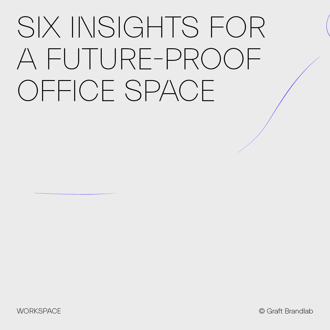 Text: Six insights for a future-proof office space