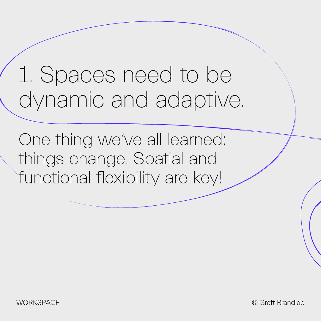 Text: Spaces need to be dynamic and adaptive