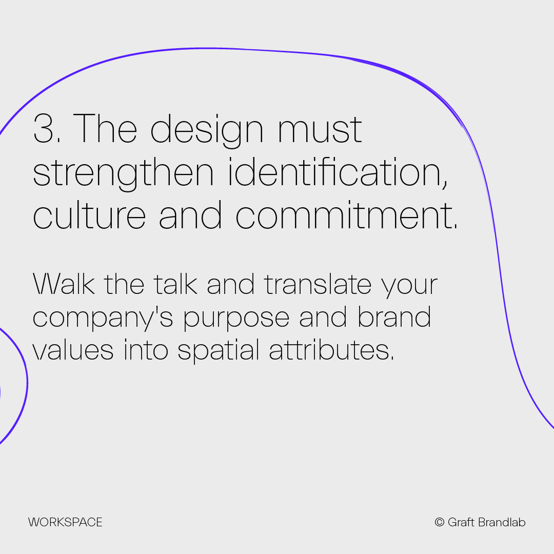Text: The design must strengthen identification, culture and commitment