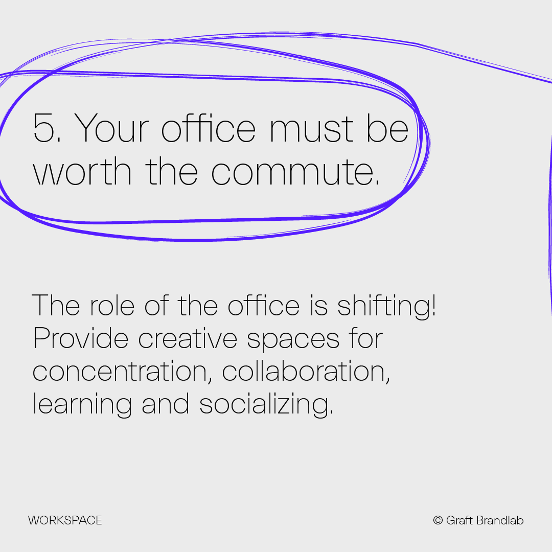 Text: Your office must be worth the commute