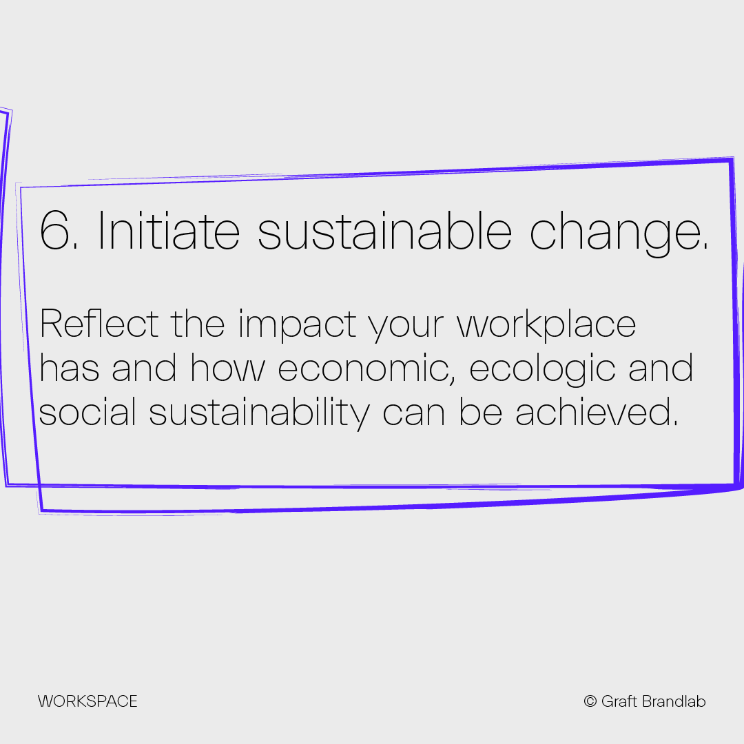 Text: Initiate sustainable change