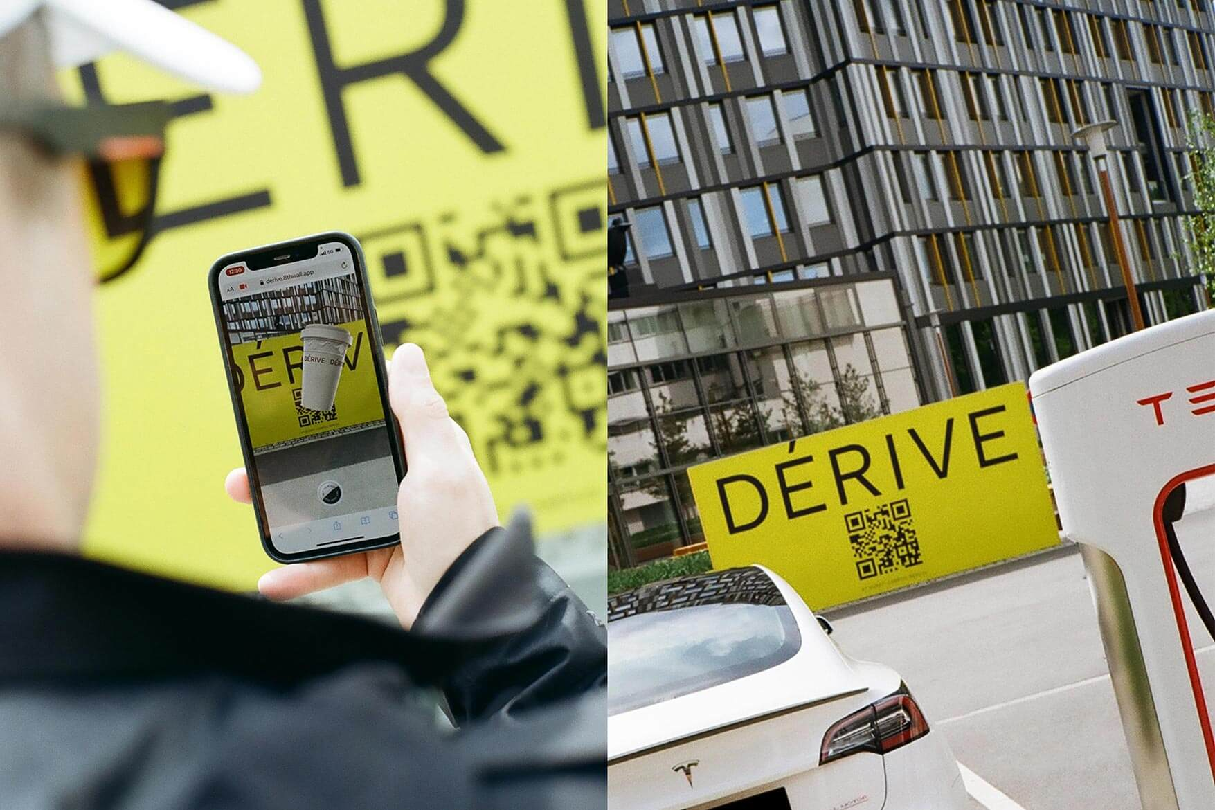 E-CHARGING STATIONS AS NEW AR-COMMUNICATION PLATFORM: DÉRIVE MAKES SUPERCHARGING SUPER SEXY.
